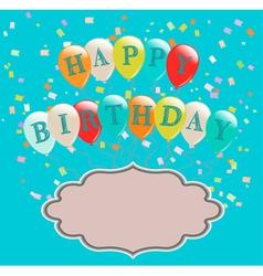 balloons birthday vector image