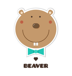 Beaver sticker vector