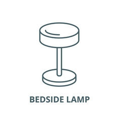 bedside lamp line icon linear concept vector image