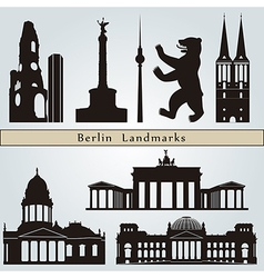 Berlin landmarks and monuments vector