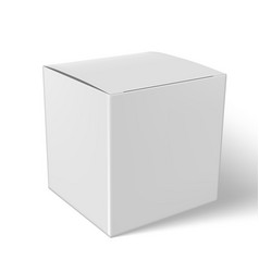 Blank paper or cardboard box with flap cover vector