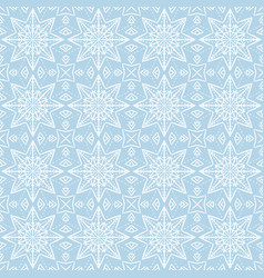 Blue christmas background with seamless pattern vector