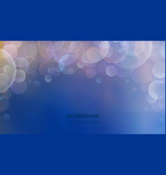 bokeh background abstract blur effect luminous vector image