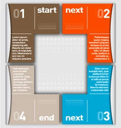 Business Infographic numbered by colors vector image