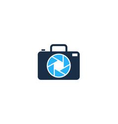 camera travel logo icon design vector image