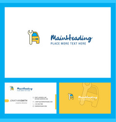 car garage logo design with tagline front and vector image