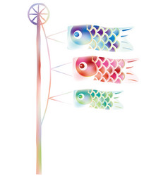 Carp streamers in watercolor style vector