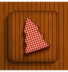 christmas wooden app Eps10 vector image