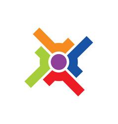 Circle shape target colored logo vector