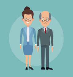 color background full body couple of woman vector image