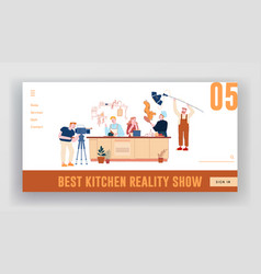 culinary program or blog broadcasting website vector image