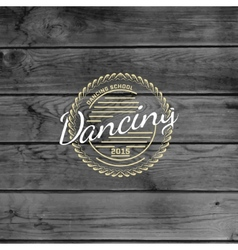 Dancing badges logos and labels for any use vector image