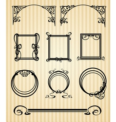 Decorated modern style vector