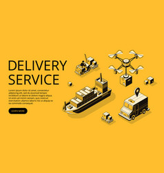 Delivery service transport vector