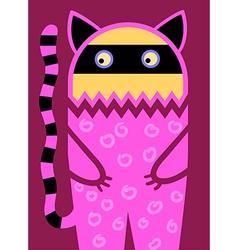 Doodle fantasy cat vector