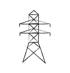 electricity tower distribution energy light vector image
