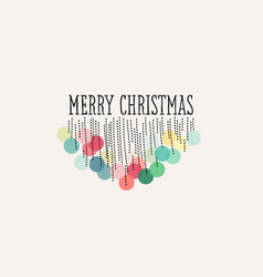 elegant christmas decoration with pastel pom poms vector image