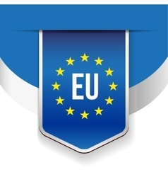 Eu flag ribbon vector