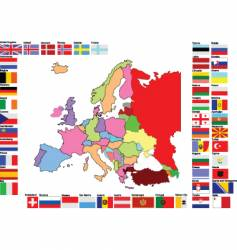 Europe map with flags vector image