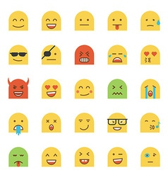 Flat Design Emoji vector