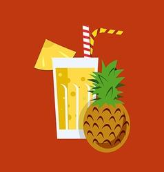 Fresh Pineapple Juice Drink vector