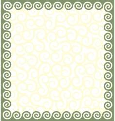 Greek style frame vector image