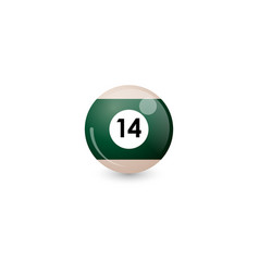 Green billiard ball number 14 vector
