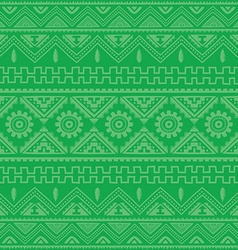 green native american ethnic pattern vector image