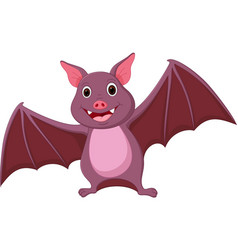 happy bat cartoon vector image