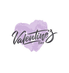 happy valentine s day hand written lettering text vector image