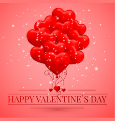 Happy valentines day background red balloon in vector