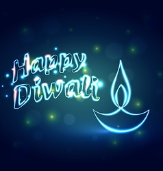 Hindu festival background of happy diwali vector