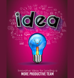 Idea brochure template with hand drawn sketches a vector