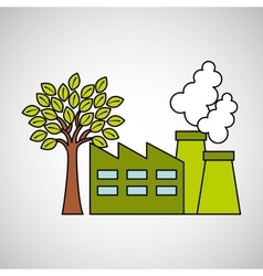 Industrial buildings eco environment graaphic vector