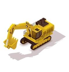Isometric mining excavator vector