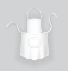 Kitchen realistic white cotton apron vector