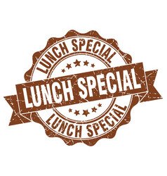 lunch special stamp sign seal vector image