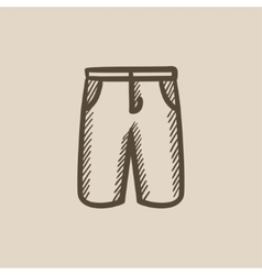 Male shorts sketch icon vector image