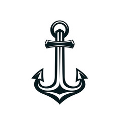 marine anchor silhouette vector image
