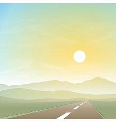 Misty Landscape with Road vector image