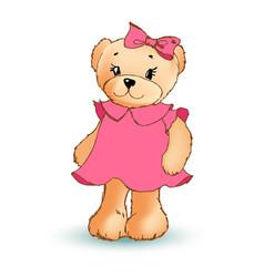 modest female teddy bear vector image