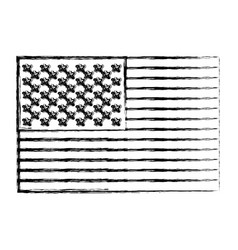 Monochrome sketch of flag the united states vector