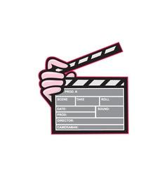 Movie Clapboard Hand Cartoon vector
