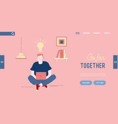 office worker or freelancer creative idea website vector image