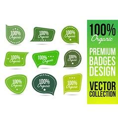 Organic Bio Logo Badge Emblem vector image