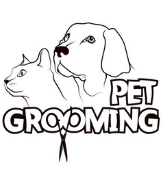 pet grooming and care muzzle cat and dog vector image