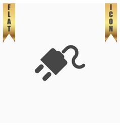 Power cord flat icon vector
