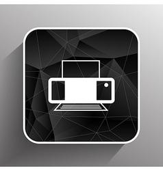 Printer icon document print fax vector image