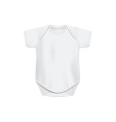 Realistic white bashirt mockup with blank copy vector