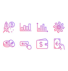 Report diagram buy button and versatile icons set vector